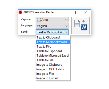 ABBY Screenshot Reader